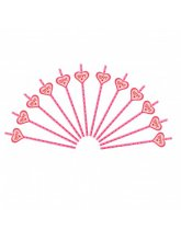 Трубочки для коктейля (розовые  в горох) love
