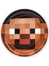 """Тарелки """"Пиксели"""" 6 шт, 18 см"""