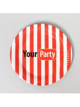 Тарелка бумажная Your party, 18 см 10 шт
