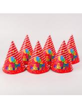 Колпаки, Праздничные шарики, Красный, (набор 6 шт)