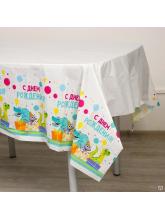 Скатерть «С днём рождения» дино, 182 х 137 см