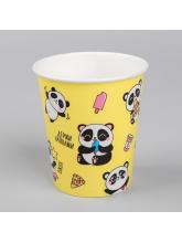 Набор бумажных стаканов «Панда», 250 мл, 10 шт.