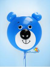 "Гелиевый шар ""Мишка"" (голубой) 60 см"