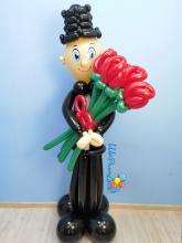 Джентльмен с розами