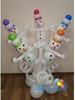 Полянка со снеговиками