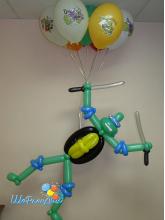 Черепашка ниндзя со связкой шаров