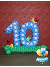 Десять из шаров (Angry birds)