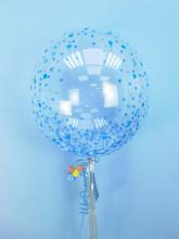 Сфера 50см с рисунком конфетти  (голубое)