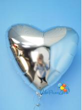 Сердце серебро 40 см