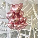 Сердце розовое золото 40 см