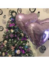 Сердце лиловое (светло-сиреневое) 40 см
