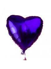 Сердце фиолетовое 40 см