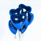 Сердце синее 40 см