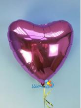 Сердце фуксия 40 см