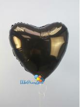 Сердце черное 40 см