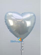 Сердце голубое (матовое)  40 см