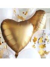 Сердце Золото (сатин) 40 см