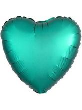 Сердце бирюзовое (сатин)