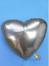 Сердце розовое золото (сатин) 40 см