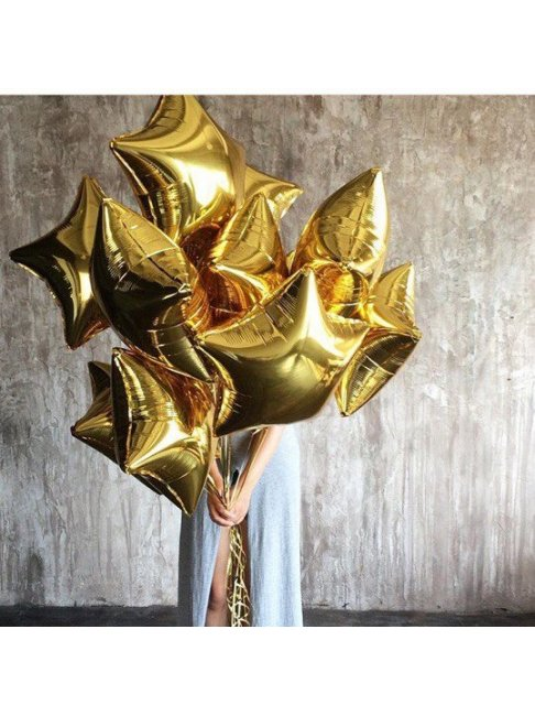 Гелиевый шар Звезда золотая