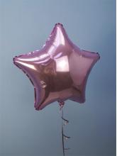 Звезда розовая блестящая 40 см