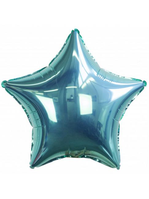 Гелиевый шар Звезда бирюзовая