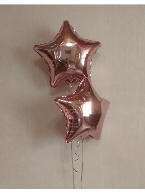Гелиевый шар Звезда розовое золото