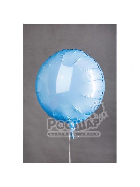 Гелиевый шар Круг голубой