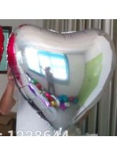 Сердце серебро 65 см