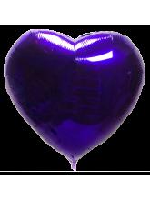 Сердце фиолетовое 65 см