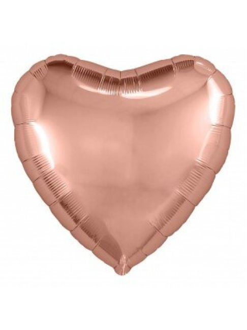 Сердце розовое золото 65 см