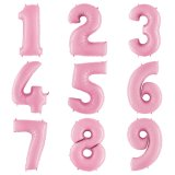 Цифра розовая