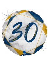 Круг-цифра 30 (мрамор синий)
