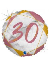 Круг-цифра 30 (розовое золото)