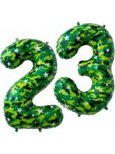 Набор шаров, цифры 23, камуфляж