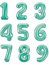 Цифра Бискайский зеленый slim (слим)