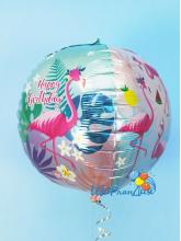 С Днем Рождения (фламинго)  Сфера 3D