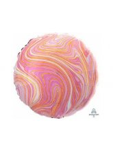 Круг Мрамор (розовый)
