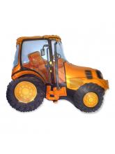 Трактор желтый