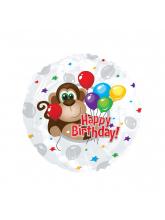 Круг Happy Birthday Обезьянка