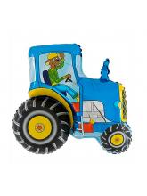Трактор синий