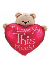 """Медвежонок с сердцем """"I love you"""""""