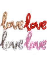 Фольгированный шар Надпись Love 102 см (воздух)