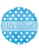 """Круг """"Its a Boy!"""" точки"""