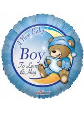 Круг С рождением Медвежонок мальчик