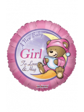 Круг С рождением Медвежонок девочка