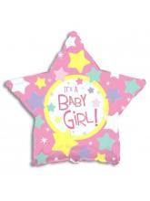 Звезда розовая It's a girl