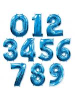 Цифра синяя