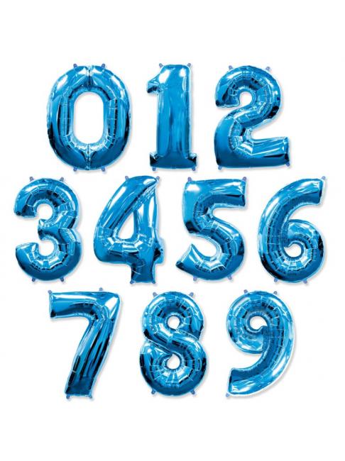 Фольгированная цифра (синия)