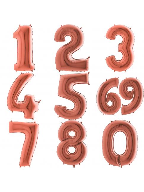Фольгированная цифра (розовое золото)